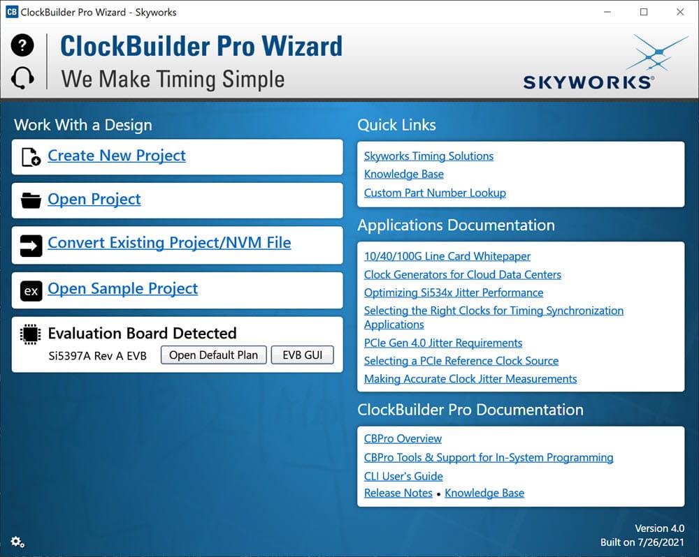 CBPro software screen shot 1000 pixels wide
